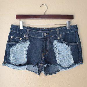 Carmar Distressed Cut Off Denim Shorts